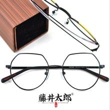 TARO FUJII Spectacle Frame Eyeglasses Men Women Vintage Oval Computer Optical Clear Lens Retro Glasses Female FT217919