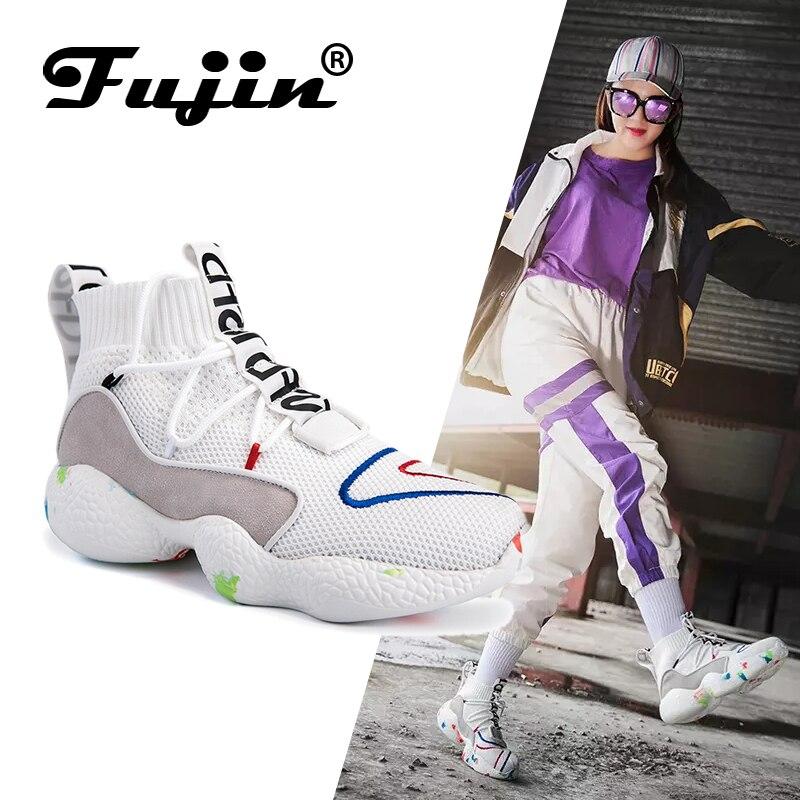 FUJIN Marque Femmes chaussures décontractées Femmes Sneakers Appartements lacets de chaussures Confortable 2019 Mode chaussures pour femme pour chaussures pour femmes