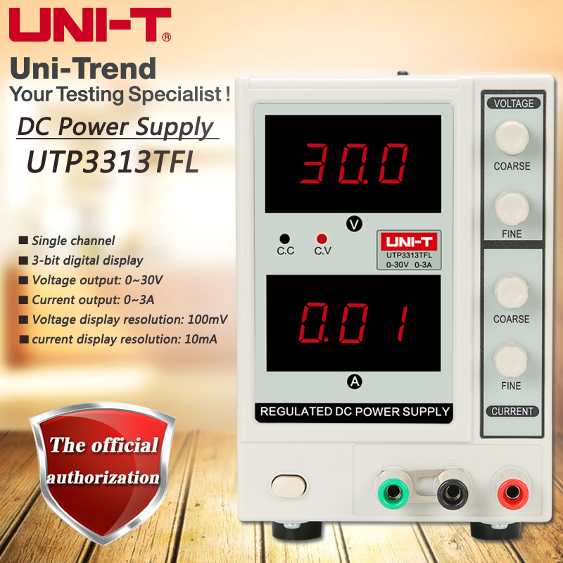 UNI-T UTP3313TFL single-channel linear DC power supply 0 to 30V / 0 to 3A щетка скребок для снега airline 16595