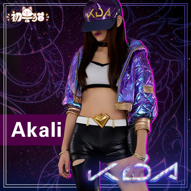 2019 Hot New!!LOL Idol singer new skin KDA Nine-Tailed Fox Ahri Akali Evelyn Kai'Sa cosplay costume New dress 5