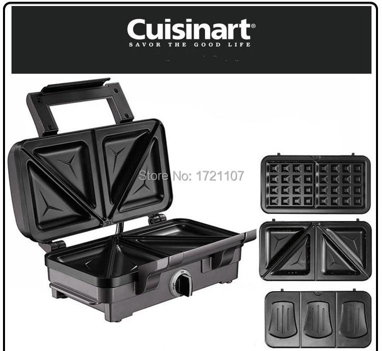 european cuisinart 3 in 1 multifunction sandwich maker waffle maker breakfast maker 3sets. Black Bedroom Furniture Sets. Home Design Ideas