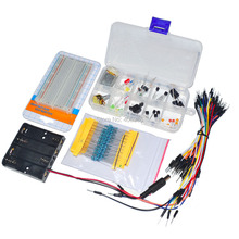 5sets/lot Electronic Universal Parts Kit Breadboard LED Cable Resistor Potentiometer Capacitance for Arduino UNO  Kit
