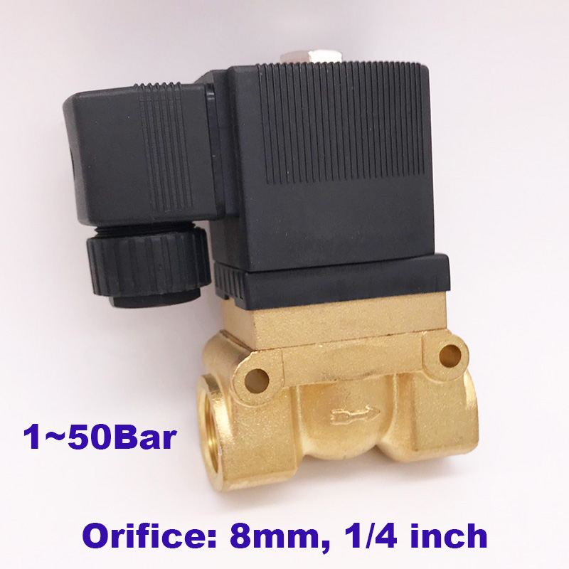 GOGO ATC 50bar high pressure high temperature solenoid valve 1 4 BSP 24V DC Orifice 8mm