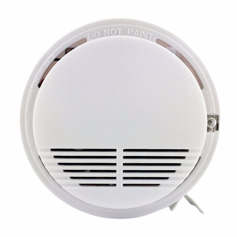 High Sensitive Photoelectric Smoking Detector Alarm More than 85dB Alarm Fire Smoke Sensor For Home Security With 9V Batteries