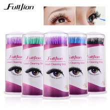 100Pcs Pack Hot Lint Disposable Makeup Brushes Individual Lash Removing Tools Swab Micro brushes Eyelash Extension