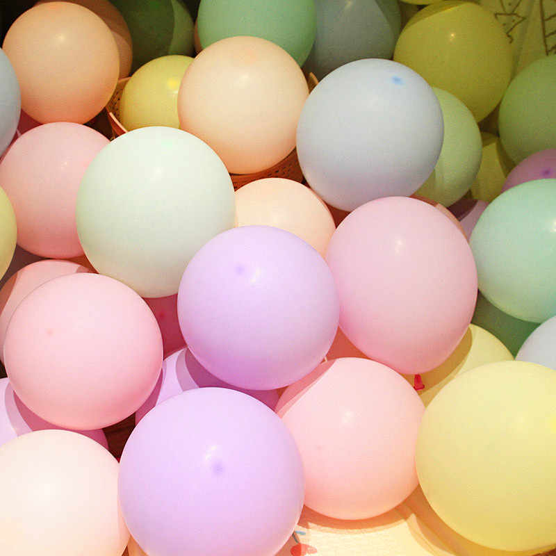 10pcs 12inch 2.2g Macaron Pearl Purple Pink Blue Latex Balloon Birthday Wedding Decor Air Helium Globos Kids Gift Party Supplies