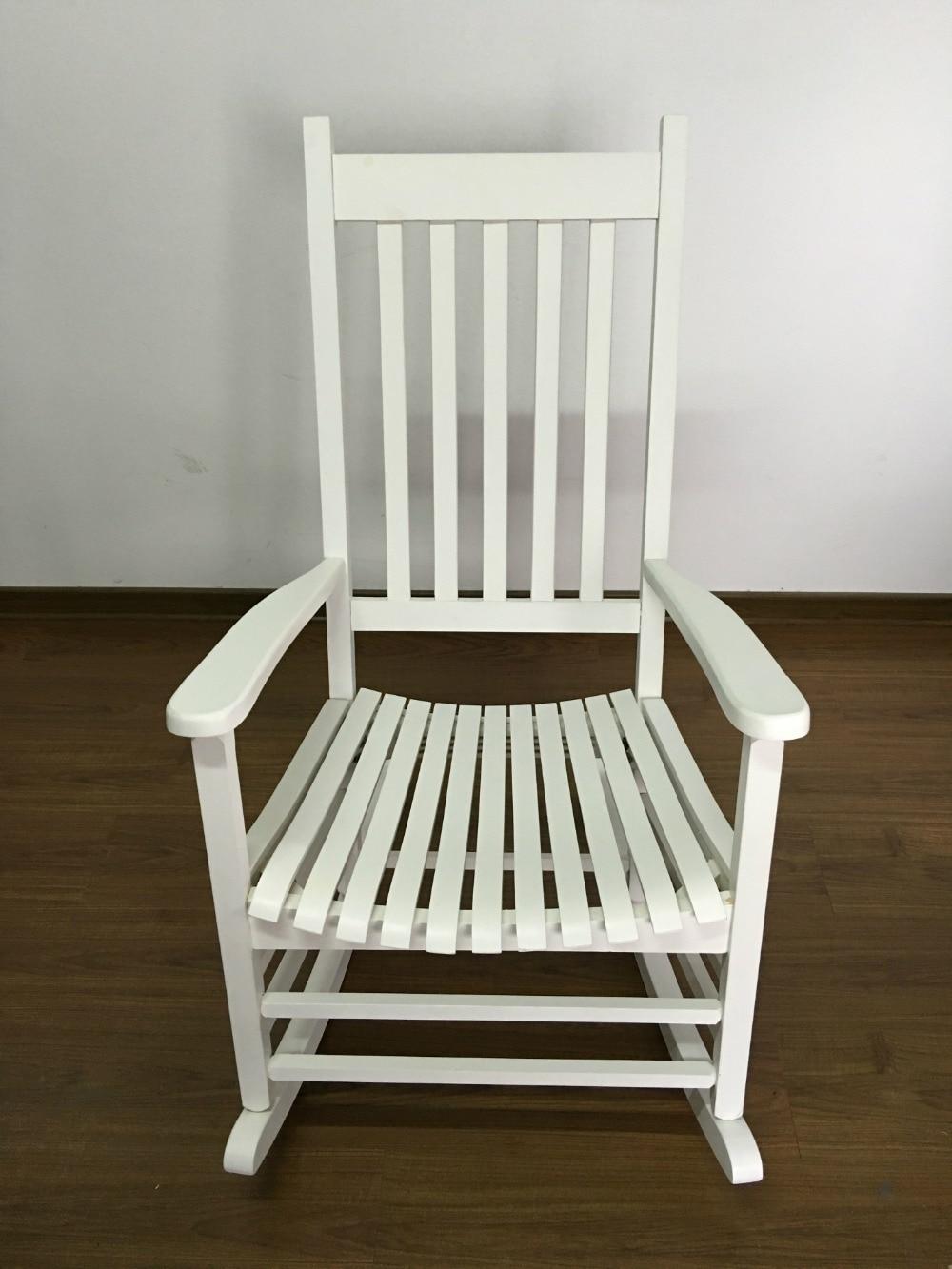 modern wood rocking chair wooden furniture presidential rocker white