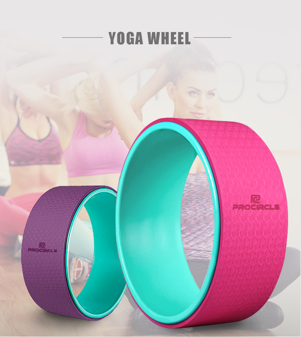 цена на Yoga Wheel Strongest Most Comfortable Dharma Yoga Prop Circle Perfect Accessory for Stretching and Improving Backbends