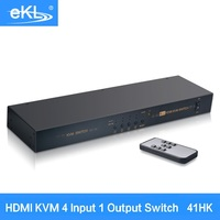 EKL 4พอร์ตHDMI SwitchสแกนอัตโนมัติUSB KVMสวิทHDจอแสดงผลแป้นพิมพ์เมาส์