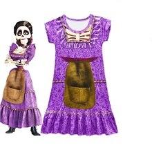Купить с кэшбэком Baby Girl Dress Kids Birthday Wedding Party Beach Dresses COCO Vampirina Princess Moana girls Constume Novelty Kids Clothes