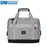 DENUONISS Large Capacity Beer Cooler Bag Waterproof Oxford Food Bag Thermal Borsa Refrigerator Bag Food Delivery Bag