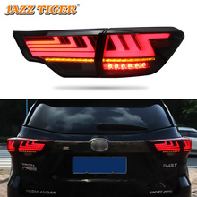 Car styling Tail Lights For Toyota Highlander 2015~2018 Led Tail Lights Fog lamp Rear Lamp DRL + Brake + Park + Signal lights все цены