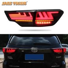 Car styling Tail Lights For Toyota Highlander 2015~2018 Led Tail Lights Fog lamp Rear Lamp DRL + Brake + Park + Signal lights цена в Москве и Питере