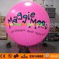 Ballon gonflable en PVC rose géant 2 m/6.5ft ballon à hélium (logo gratuit + livraison gratuite)