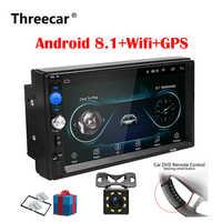 2 Din Autoradio Android 8.0 Universale di Navigazione Gps Bluetooth Touchscreen Wifi Car Audio Stereo Fm Usb Car Multimedia MP5