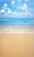 Céu azul Nuvens Brancas Oceano Temático da Praia Do Mar parede de Vinil pano de fundo pano de Alta qualidade de impressão Computador Fundos