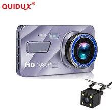 """QUIDUX 4 """"IPS Car Dash Cam Full HD 1080 P Cruscotto della Macchina Fotografica 170 gradi Del Veicolo di Guida A Doppia Lente DVR parcheggio registratore Monitor WDR"""