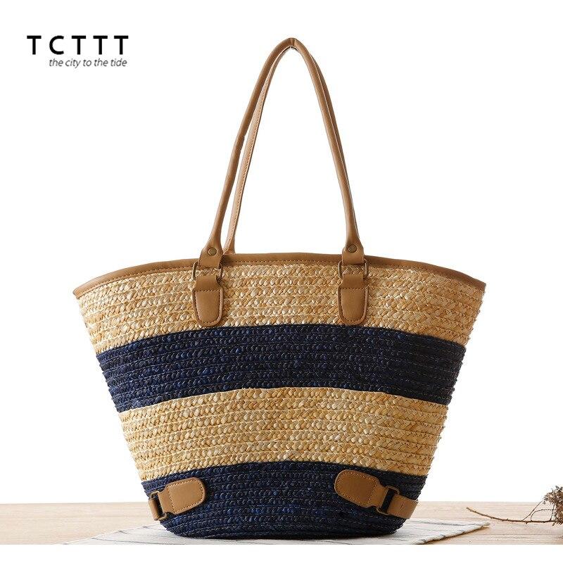 TCTTT Fashion women's straw bag luxury handbags women bags designer Large Capacity Shoulder Crossbody bags Totes Bolsas Feminina