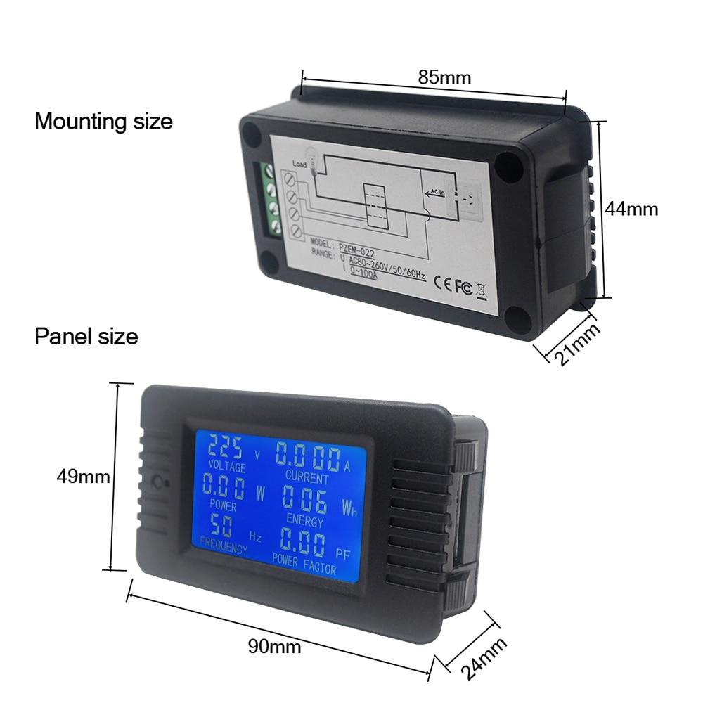 KKmoon Digitale Spannungsmesser 6 IN 1 AC 110-250V LCD Energie Energie Voltmeter Amperemeter Strom Ampere Volt Wattmeter Tester Detektor