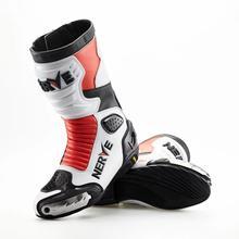 Новые нервные Moto Racing кожаные мотоботы обувь мотоцикл для верховой езды Спорт дорожный Скорость Профессиональный botas Для мужчин бесплатная доставка через ems