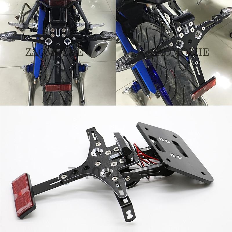 Motorcycle Led Light Rear Tail Tidy Fender Eliminator Kit License Plate Holder For YAMAHA YZF R3