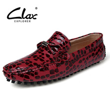 Clax Men Flats Moccasins 2017 Spring Summer Red Gray Casual Loafers for Male Handmade Leisure Boat Footwear Soft Classic