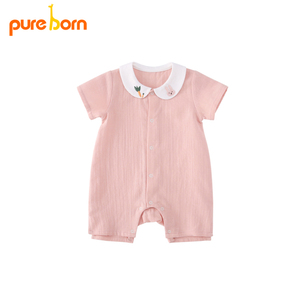 Pureborn Baby Rompers Summer Baby Girls Clothing Cartoon Newborn Baby Clothes Roupas Bebe Short Sleeve Baby Girl Clothes Infant