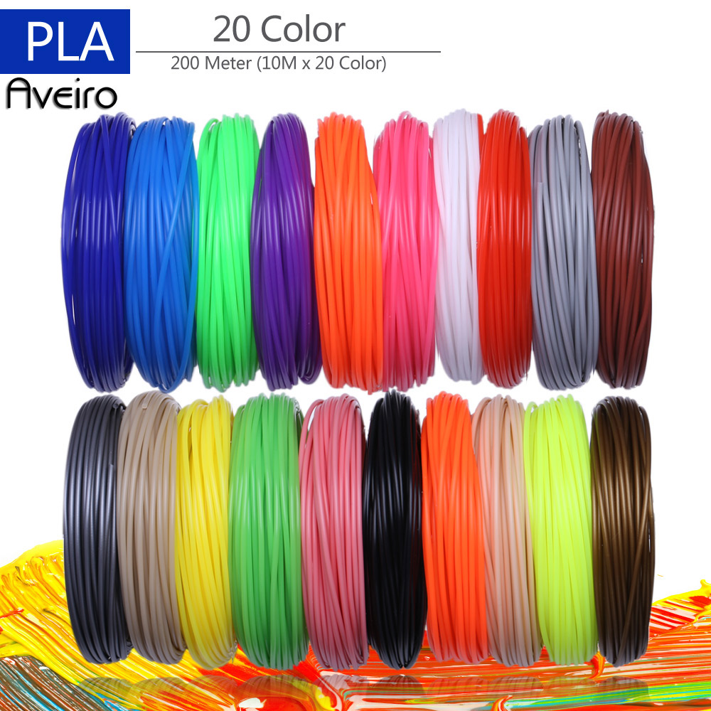 3D Printer Filaments 200 Meters 20 colors 3D Printing Pen Plastic Threads Wire 1.75 mm Printer Consumables 3D Pen Filament PLA3D Printer Filaments 200 Meters 20 colors 3D Printing Pen Plastic Threads Wire 1.75 mm Printer Consumables 3D Pen Filament PLA