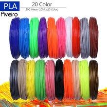 3D Printer Filaments 200 Meters 20 colors 3D Printing Pen Plastic Threads Wire 1.75 mm Printer Consumables 3D Pen Filament PLA цена