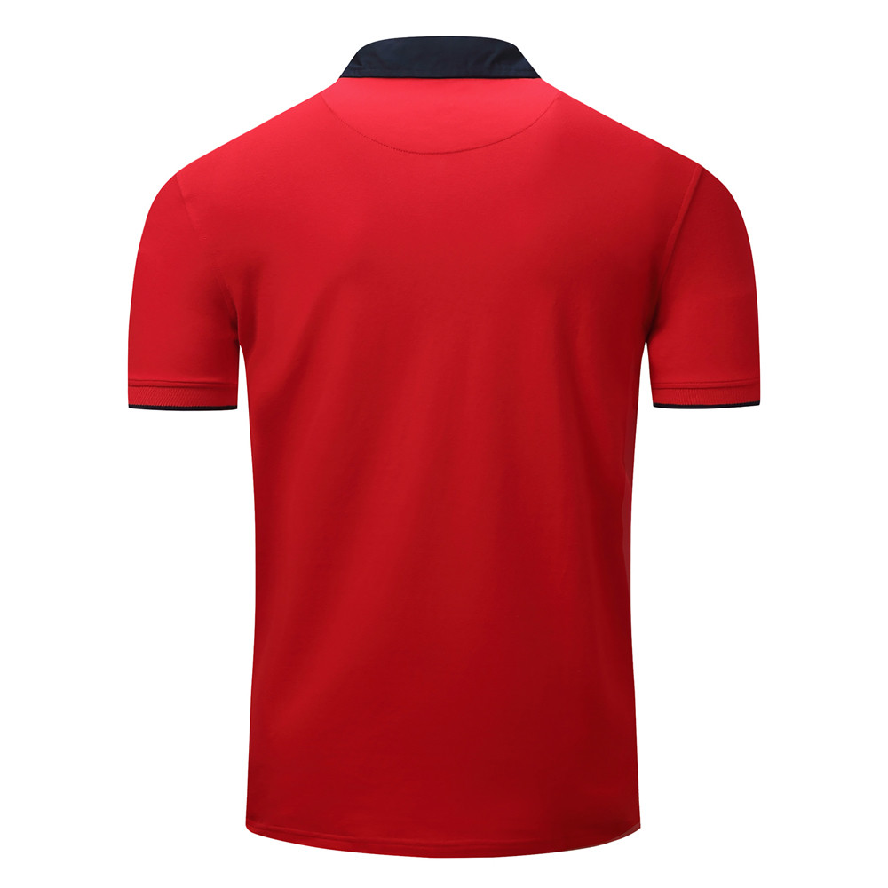 2018 Polo Shirt Men Splicing Casual Button Splicing Pullover Short Sleeve T-shirt Top Blouse Clothes Wholesale Drop Shipping