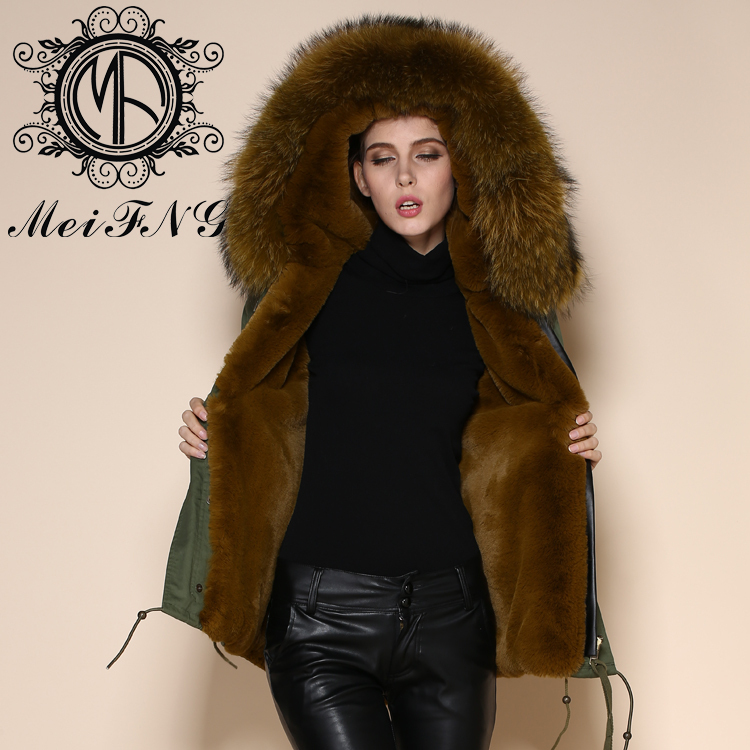 8fe810b1bbb88 army green shell snow white color inner anti wear military long over coat  fur-in Faux Fur from Women's Clothing & Accessories on Aliexpress.com | ...
