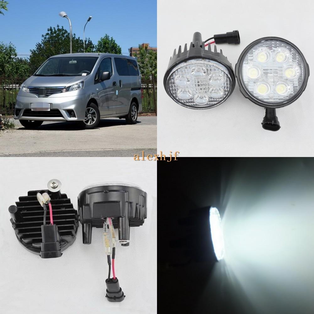 ФОТО July King 18W 6LEDs H11 LED Fog Lamp Assembly Case for Nissan NV200 2010~ON, 6500K 1260LM LED Daytime Running Lights