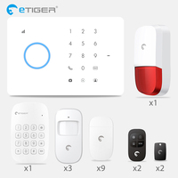 eTiger S3B GSM Alarm Auto dial Home Security and Fire Protection Alarm System iOS Android App Sensor