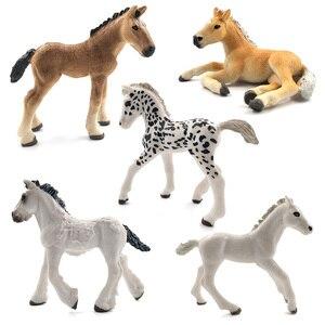 Image 5 - محاكاة نماذج للحيوانات الخيول عمل أرقام الأطفال ديكور المنزل الجنية حديقة اكسسوارات الديكور تمثال هدية للأطفال لعبة