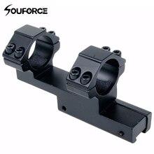 Montagem integral 25.4mm/30mm anel de montagem cauda de andorinha 11mm ferroviário tecelão montagem apto para rifle/escopo caça frete grátis