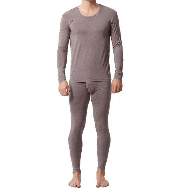 Пижамы Для Мужчин Трикотажные Домой Бамбуковое Волокно Платье Плюс Размер Мужчины Пижамы Установить