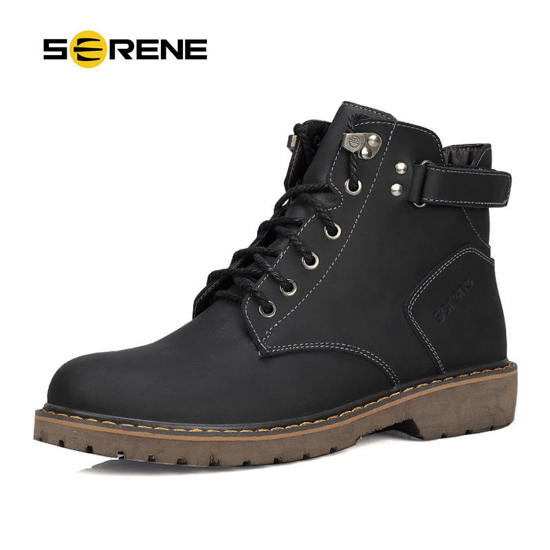 SERENE Brand 2018 Mote Menn Boots Plus Size 37 ~ 45 Vinter Boot Casual Shoes British Style Tooling Støvler Desert Boots Work Shoes