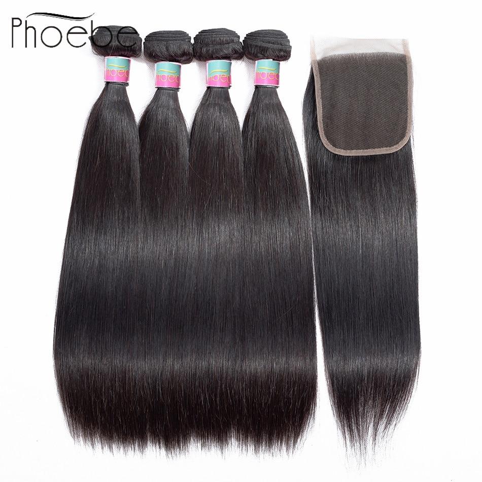 Phoebe Hair Pre Colored 5 Pcs 100 Human Hair Brazilian Hair Straight 4 Bundles With 4