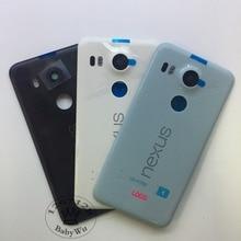 1pcs For LG Google Nexus 5X Back Battery Cover Rear Door Housing Case Original Replacement Parts