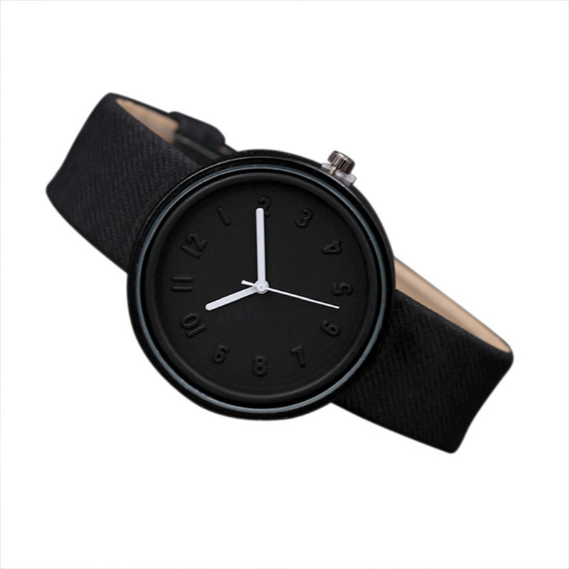 Fashion Simple Style Women Watches Canvas PU Leather Number Quartz Wrist Watch relogio feminino orologi donna 2017 New rigardu fashion female wrist watch lovers gift leather band alloy case wristwatch women lady quartz watch relogio feminino 25