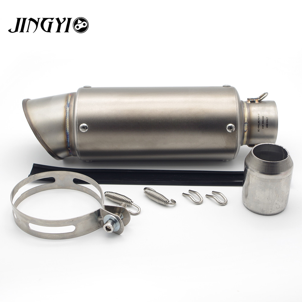 51/61mm Universal Stainless Steel Motorcycle Exhaust Pipe Muffler loud silencieux escape moto FOR Kawasaki ninja 650r er6f er6n