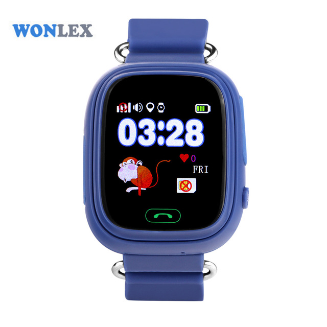 Wonlex GW100 MTK2503 LBS/GPS/Beidou/WIFI Positioning Touch Screen Smart Phone Kids GPS Watch Children Tracker Anti-Lost Watch