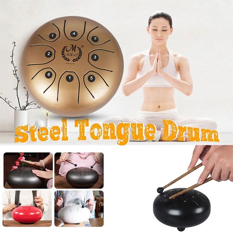 5.5 pouces 2 couleurs Instrument de Percussion Mini souci tambours Brahma tambour fort bouddhisme vide tambour musique nationale tranquillisant