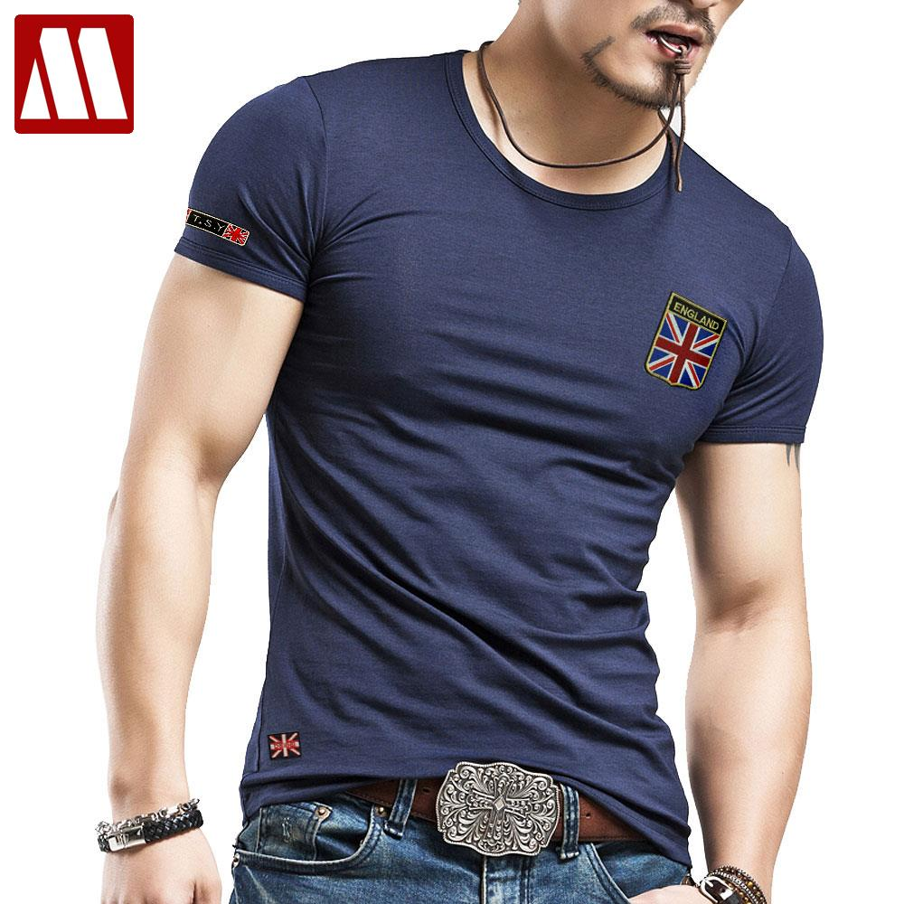 Men s British M Union Jack flag T shirt O neck short sleeve Casual T shirts  United Kingdom men fashion trends t shirt Men 5XL-in T-Shirts from Men s ... 110d37a82534