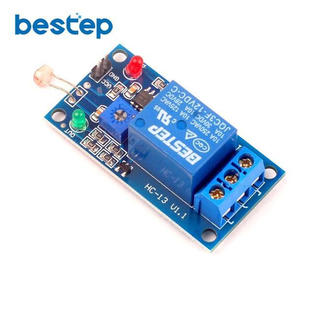 1PCS 1 Channel 12V Photosensitive Relay Module Light Switch Photosensitive Sensor