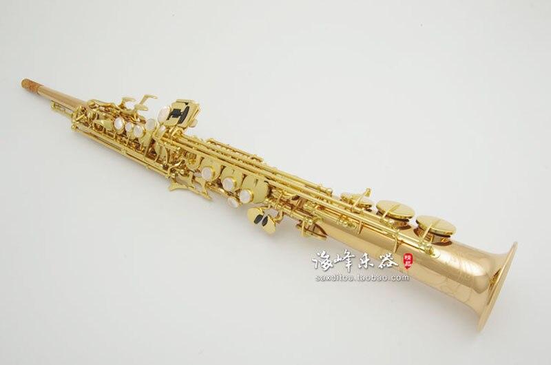 Japão S902 Yanagisawa B (B) executar Instrumentos Musicais Saxofone Soprano Ouro-banhado a Shell Decoração Sax Com Caso, Bocal