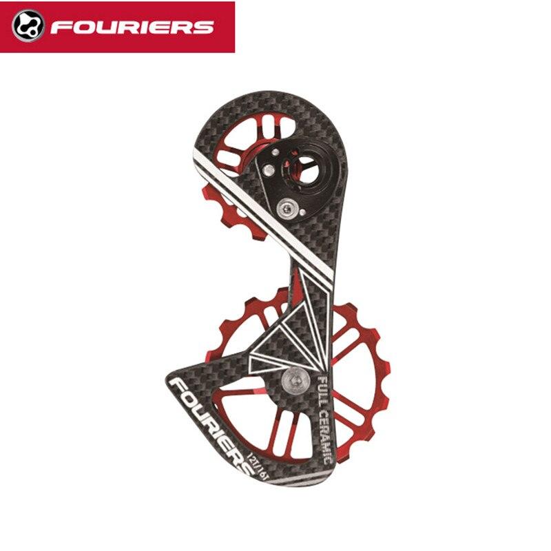 Carbon full ceramic bearing jockey wheels Road bicycle rear derailleur pulleys 12T-16T Use RD9070/ 9000/ 9150/6800/ 6870