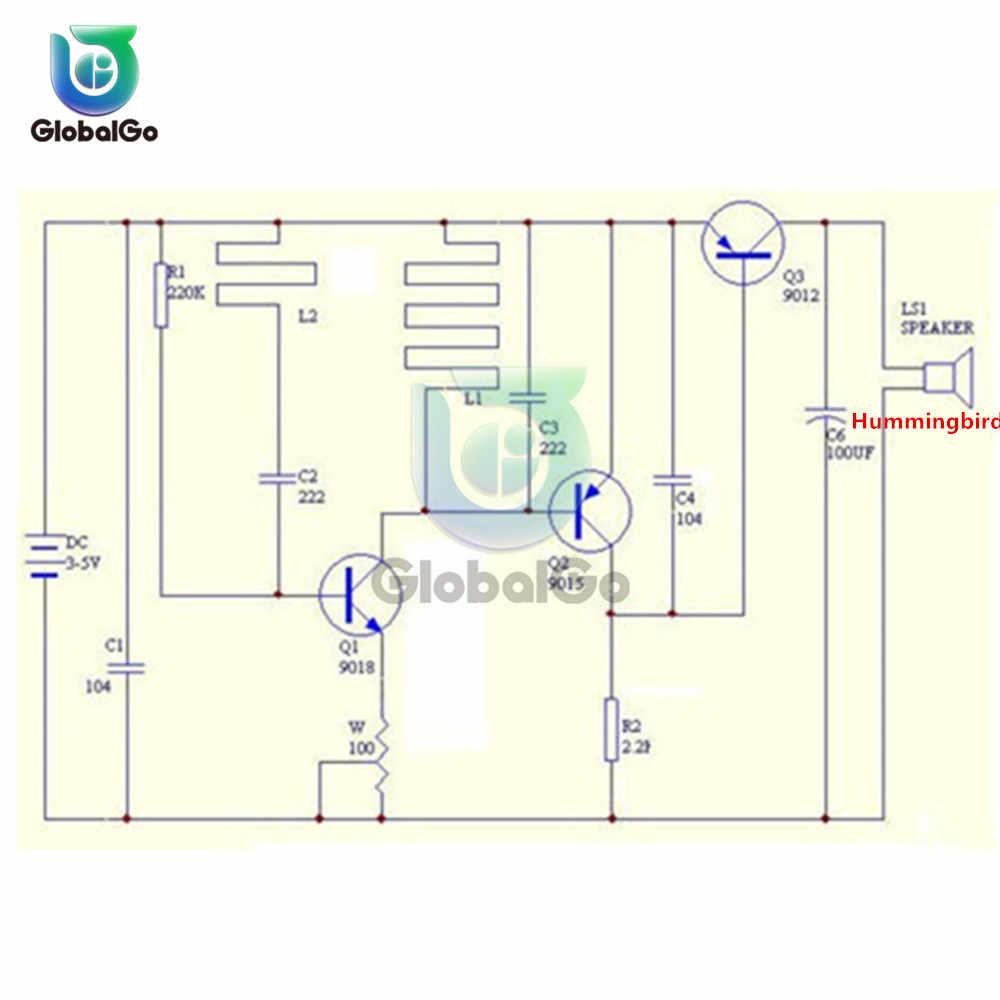 Détecteur de métaux localisateur de métaux DC 3 V-5 V Module de capteur de métal électronique Suite à Induction avec boîtier kit de bricolage