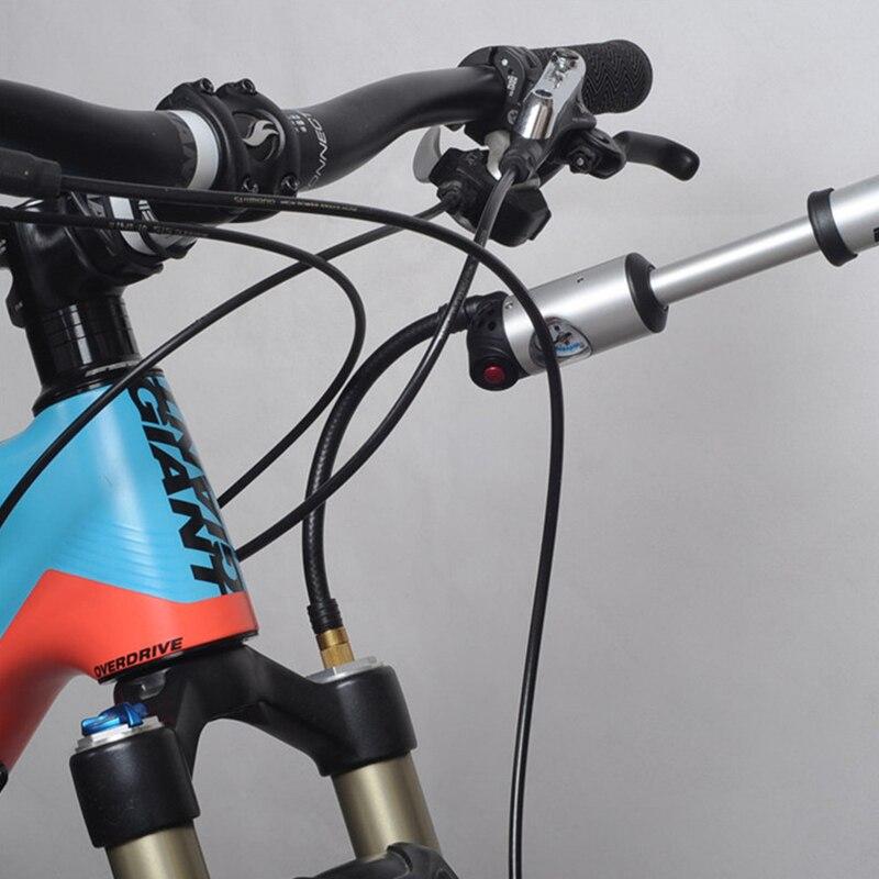 Купить с кэшбэком BETO Bicycle Pumps for Tire/Tube & Plug/Shock/Fork,Schrader & Presta Valves Adapter Inflator,Mini Hand Bike Pump with Gauge Hose