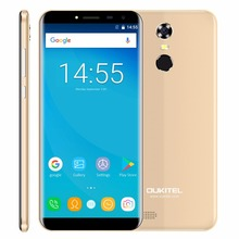 Oukitel C8 18:9 Aspect Ratio Mobile Phone 5.5″HD Quad Core 1.3GHZ 2GB/16GB ROM 13MP Android 7.0 3000mAh Rear Touch ID Smartphone